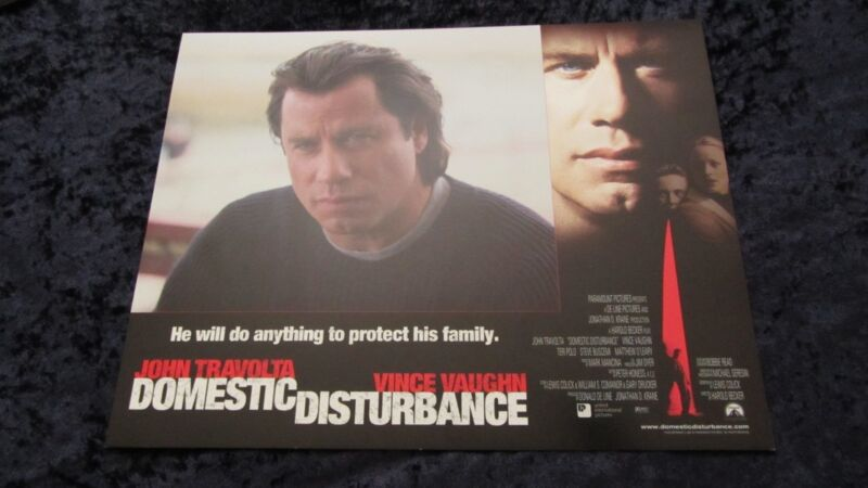 DOMESTIC DISTURBANCE lobby cards JOHN TRAVOLTA, VINCE VAUGHN set of 8 cards