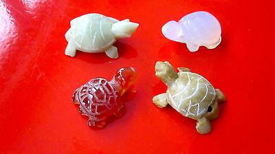4 Schildkröte Fengshui Glücksbringer Gesundheit Jade, Naturstein