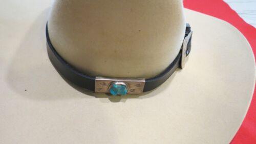 Vintage Hat Band Sterling Silver 3 piece Ranger Set and Turquoise Slide