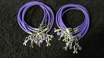 1 Dz Purple Pancreatic Cancer/Domestic Violence/Fibromyalgia/Lupus Bracelet