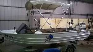 SAVAGE TINNY BOAT WITH TRAILER AND MOTOR Greenvale Hume Area Preview
