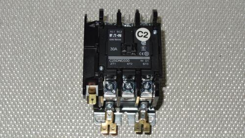 Eaton Cutler-Hammer C25DND330 30A 120V Contactor