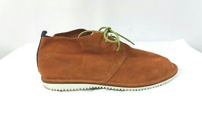 Zara Man Brown Cinnamon Suede Lace Up Casual Shoes Size EUR 43 US 10