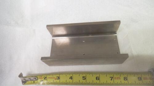 """Custom Nickel plated Aluminum U channel, 5-7/8"""" long x 3"""" wide x 1-3/4"""" tall"""