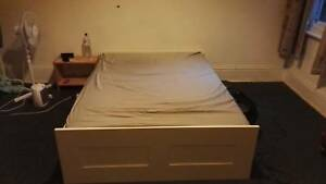 Ikea doubble bedframe   mattress