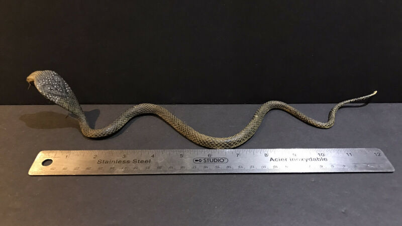 "Vintage RETIRED AAA Cobra Snake Figure 15"" Long"