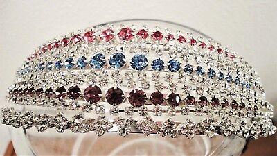 Sparkly Rhinestone Headpiece Tiara Formal Events Prom Wedding Birthday #C3677 - Sparkly Tiaras