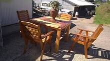 5 piece solid red gum outdoor setting bargain as new Redland Bay Redland Area Preview