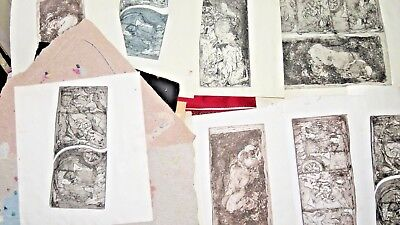 """Norman Rupnow Original Portfolio Lot 1950's """"Wisconsin Abstract"""" Listed Artist"""