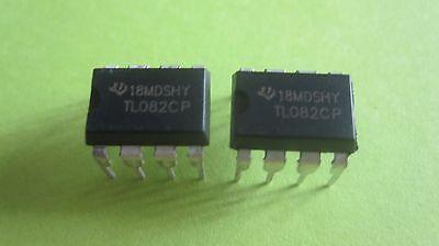 2pcs Texas Instruments Tl082cp Tl082 Dual Jfet Operational Amplifier - New Ic