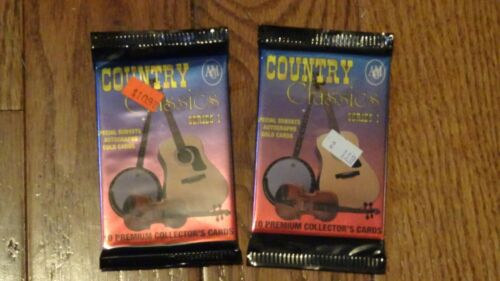 Rare 2 packs of Country Classic Series 1 trading cards NEW