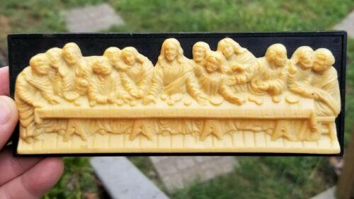 "The LAST SUPPER Raised Relief WALL PLAQUE 6.5"" x 2.5"" Religous Jesus Apostles"