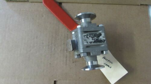 Flowserve Tri Clover Ball Valve, Stainless,Used