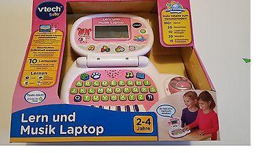 VTECH  LERNLAPTOP in rosa/weiß Lern- und Musikcomputer ab 2 Jahre  NEU/OVP