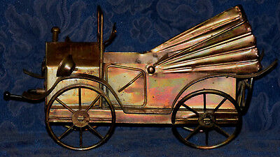 "Vintage CAR Model ""T"" Convertible Copper/Metal Art MUSICAL BOX !!! WORKS !!!"