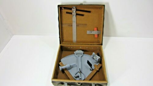 WWII U.S Maritime Commission Cruver Mfg Lifeboat Navigation Sextant