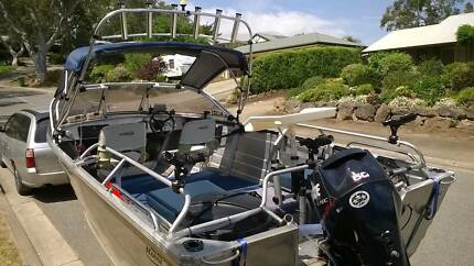Stacer 2005 runabout with 50hp evinrude etec on Dunbier trailer Nairne Mount Barker Area Preview