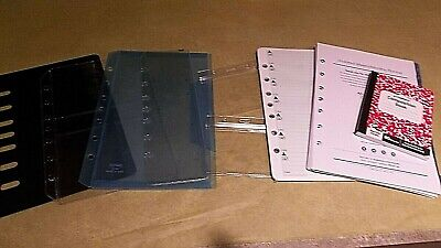 Franklin Covey Classic Day-timer Desk Hard Dividers Pockets 7-ring Refill Lot 9
