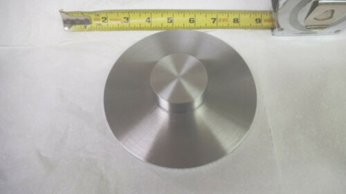 "150mm or 5-15/16"" Aluminum disc, .262 thick, machined, used"