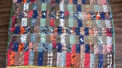 SMALL PATCHWORK DOLL CRIB/ BED QUILT--HANDMADE--24