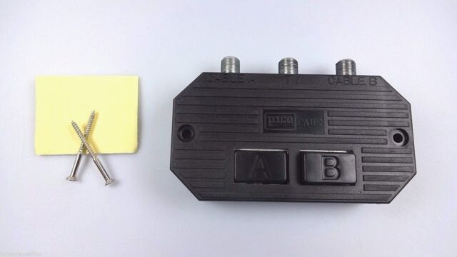 Coaxial A B Switch Pico Macom Inc. Pab 2 Cable A TV Cable B Switches 2 way