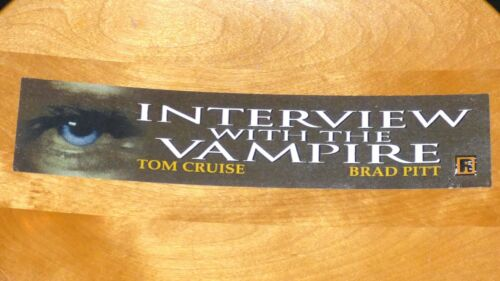 INTERVIEW WITH THE VAMPIRE 1994 ORIGINAL MOVIE THEATRE MARQUEE LIGHT BOX STRIP