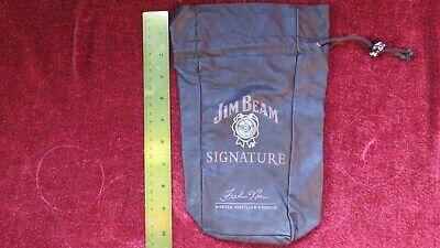 JIM BEAM Signature LEATHER BOTTLE BAG Lot of 2 Master Distiller's (Jim Beam Bottles Collectibles)