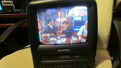 "SYLVANIA COLOR TV 9"" TV/VCR ComboVHS Player Black Model SRC2109E  AC/DC POWER"