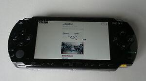 BLACK-SONY-PSP-Fat-1003-console-di-gioco-buone-condizioni-Garanzia