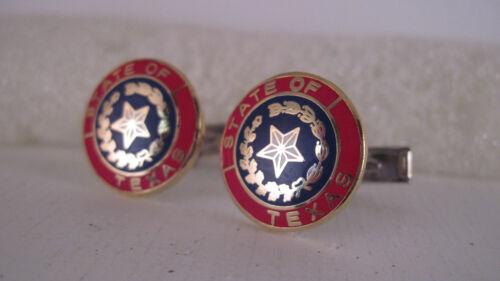 Texas  state    Seal cloisonne   pair cufflinks