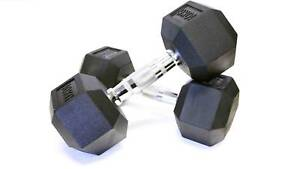 ARMORTECH COMMERCIAL RUBBER HEX DUMBBELL