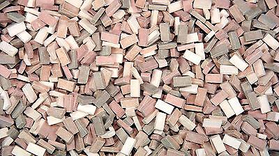 3.000 Keramik Ziegelsteine terra Mix  1:87 von Juweela