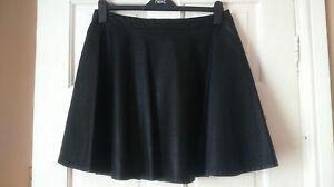 new faux leather skater skirt size 18 black fancy