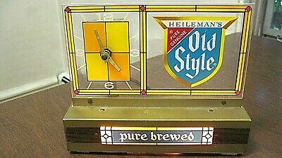 Vintage Heileman Old Style Beer Working Lighted Cash Register Clock Sign 1960/70