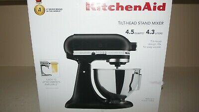 New Kitchenaid KSM96BM Ultra Power Plus 4.5qt Tilt-Head Stand Mixer -Black Matte