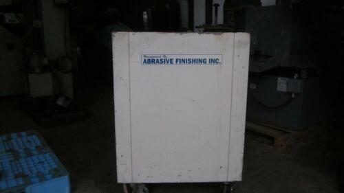 AFI Burr bench vibratory 2.5 cuft deburring tub Mr deburr, 120v, enclosed