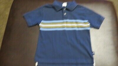 Boys SS Short Sleeve shirt top polo style collared Old Navy blue size 4 S Small Boys Blue Ss Shirt Top