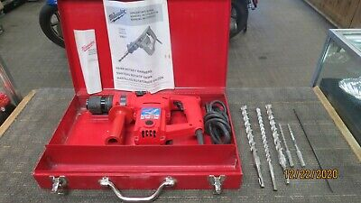 Milwaukee 5362-1 Hawk 1 Corded Rotary Hammer Drill With Bits In Case
