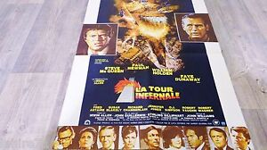 steve mcqueen la tour infernale affiche cinema ebay. Black Bedroom Furniture Sets. Home Design Ideas
