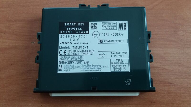 Lexus GS-300h 2014 Smart Key Control Unit OEM   89990-30470     232900-3751