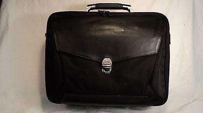 Lodis 637SB Black Nylon & Leather Men's Laptop Briefcase