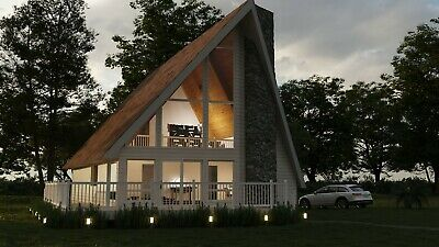 Berkshire A-frame 24x44 Customizable Shell Kit Home Delivered Ready To Build