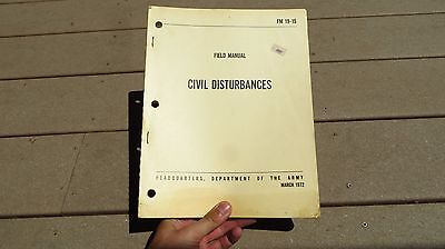 Department US Army Civil Disturbances and Disasters FM 19-15 Field Book