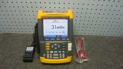 Fluke 199c Scopemeter Color Portable Oscilloscope 200 Mhz 2.5 Gss Sw V08.04-