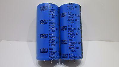 Nippon Chemi-con - 105c- 10000uf 75v Electrolytic Cap New 2 Pieces