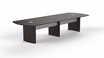 12ft Stylish Modern Office Conference Table With Mocha Laminate Finish