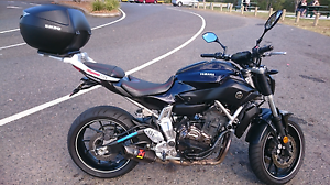 Yamaha mt07 with extras Logan Central Logan Area Preview