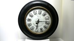 Antique French Wall Clock with Large Enameled Dial
