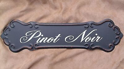 WINE SIGN PINOT NOIR Metal Vintage Style Winery Cellar Bar Pub Kitchen Decor