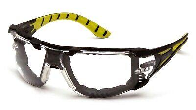 Pyramex Endeavor Plus Foam/Padded Hi Viz Clear H2MAX Anti Fog Safety Glasses